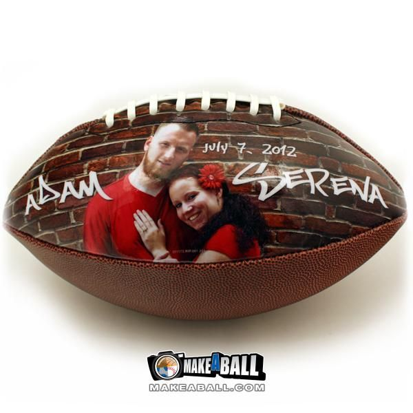 Learn how to make customized footballs with personal photos, texts and unique designs. They come in regular and medium sizes on beautiful synthetic pebble leather. The panel that contains the design will have a full, smooth and glossy finish. They make pe