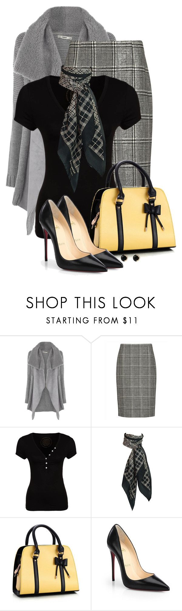 """""""Princess of Wales"""" by eilselrenrag ❤ liked on Polyvore featuring Oasis, Jaeger, Morgan, Christian Louboutin and River Island"""