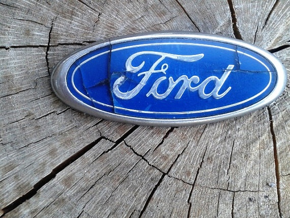 Vintage Auto Ford Car Emblem Acrylic By JUNQFUSION On Etsy 500
