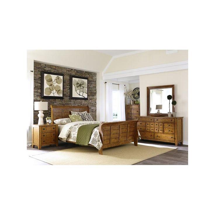 Liberty Furniture Aged Oak Queen Bedroom Set U2013 My Furniture Place