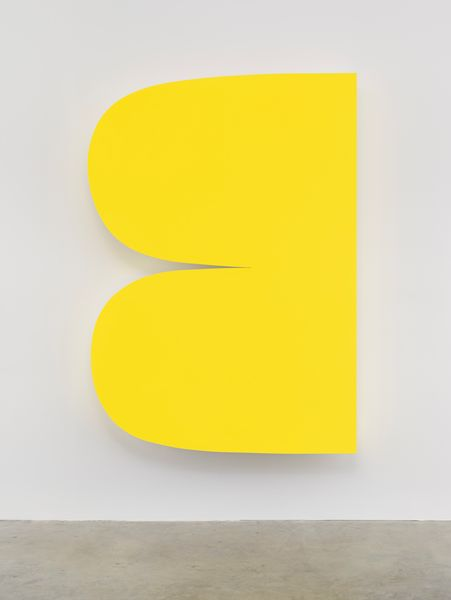 Ellsworth Kelly, Yellow Curves 2014 Painted aluminum 90 x 63 1/2 inches; 229 x 161 cm