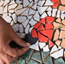 I want to do some mosaics on the concrete outdoors and perhaps on table tops.