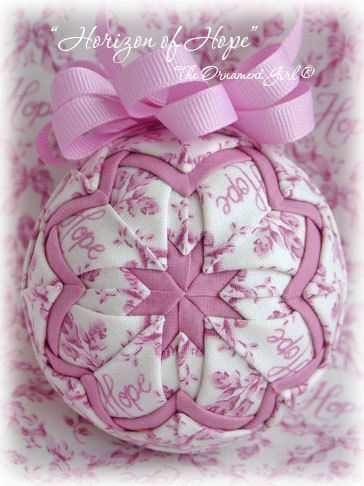 Quilted ornament - thought you might like to make them for your shop