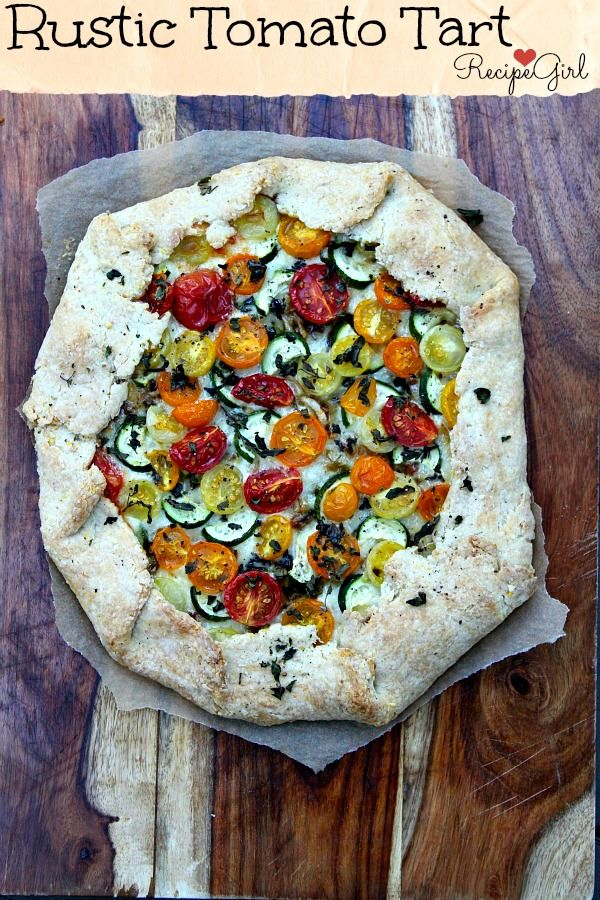 Rustic Tomato and Zucchini Tart Recipe - RecipeGirl.com