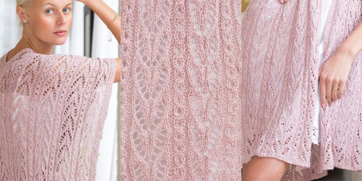 Нежный палантин спицами Vogue Knitting Spring Summer 2017