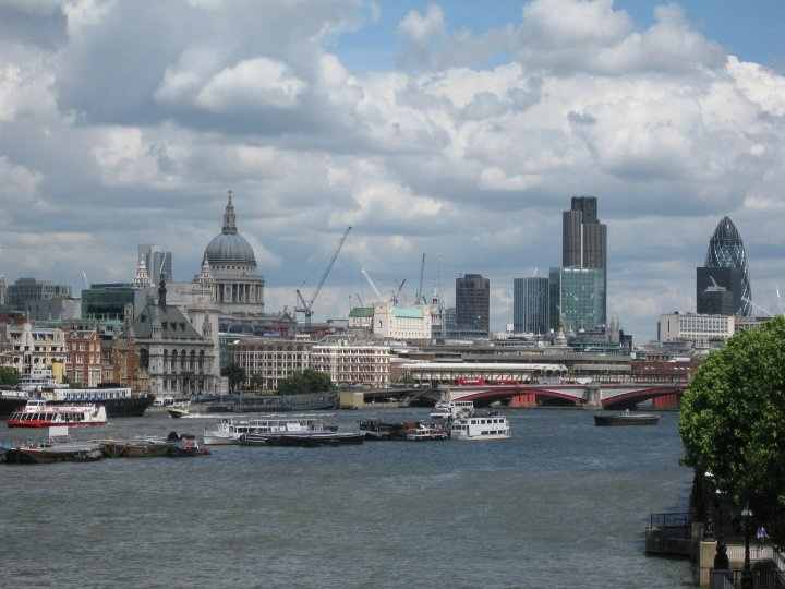 The view from Waterloo Bridge