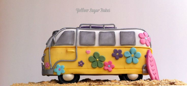 VW Camper van birthday cake