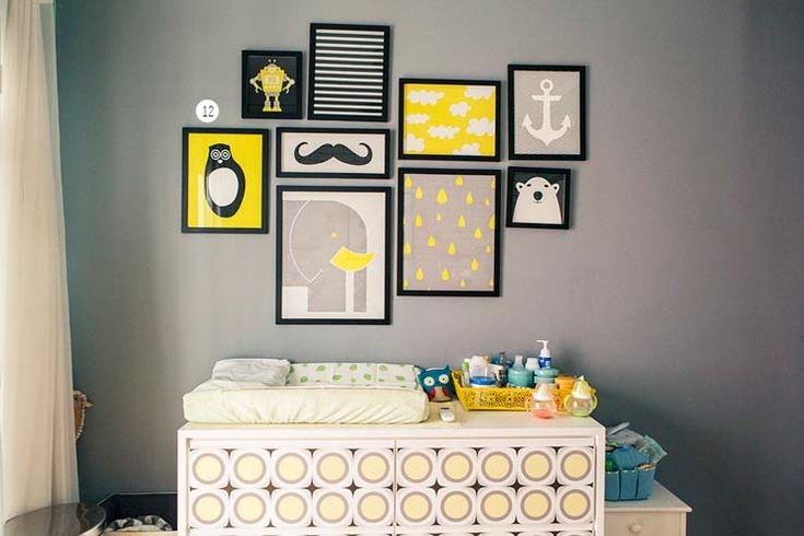 Inspiração: Decoração em Cinza e Amarelo