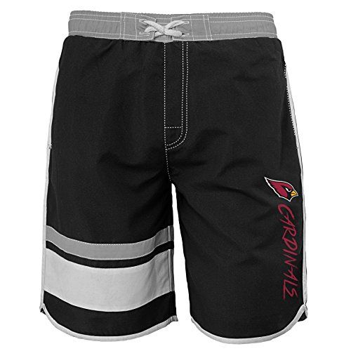 NFL Youth Boys Swim Trunk  http://allstarsportsfan.com/product/nfl-youth-boys-swim-trunk/  Officially licensed by the NFL Screen print down left leg Pockets at sides