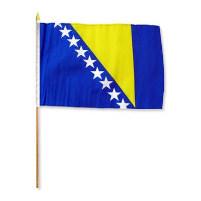 FlagsImporter Bosnia & Herzegovina Traditional Flag and Flagpole Set