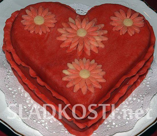 Valentýnské bílkové srdce