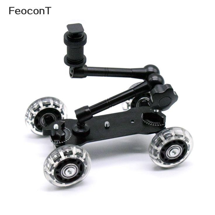 best price mobile rolling sliding dolly stabilizer skater slider 11 articulating magic arm for gopro 4 #truck #wheels