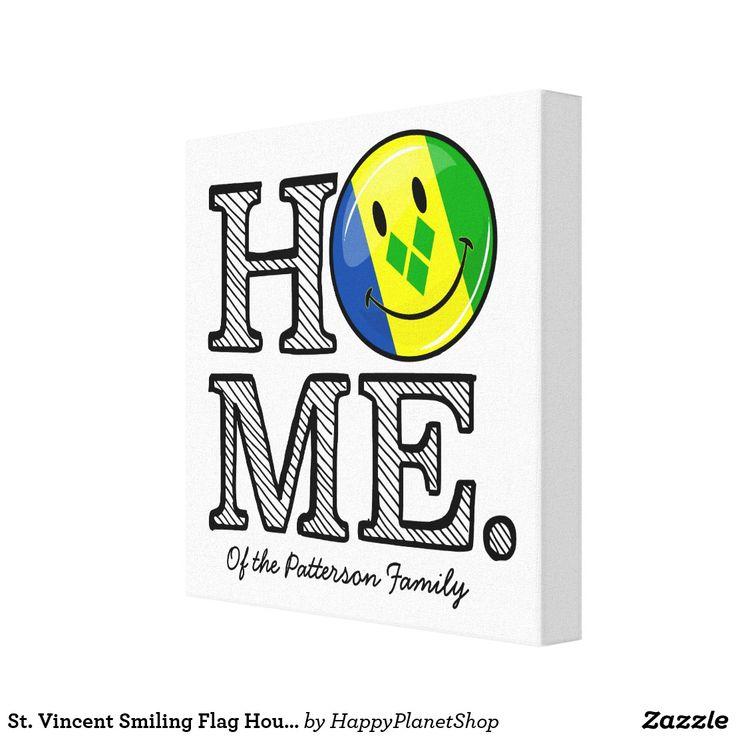 St. Vincent Smiling Flag Housewarming Canvas Print