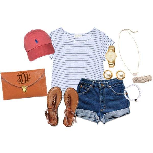 OOTD- Disney World's Magic Kingdom by emmig02 on Polyvore featuring The Lady & The Sailor, American Eagle Outfitters, Kendra Scott, Kate Spade and Polo Ralph Lauren