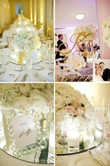 Best mirror wedding centerpieces images on pinterest