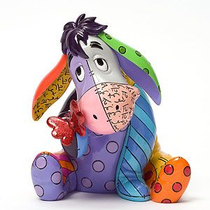 Winnie The Pooh - Eeyore with Butterfly - Britto - Romero Britto - World-Wide-Art.com - $70.00