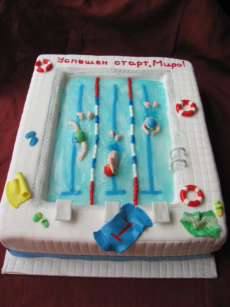 My First U0027u0027swimming Poolu0027u0027 Cake