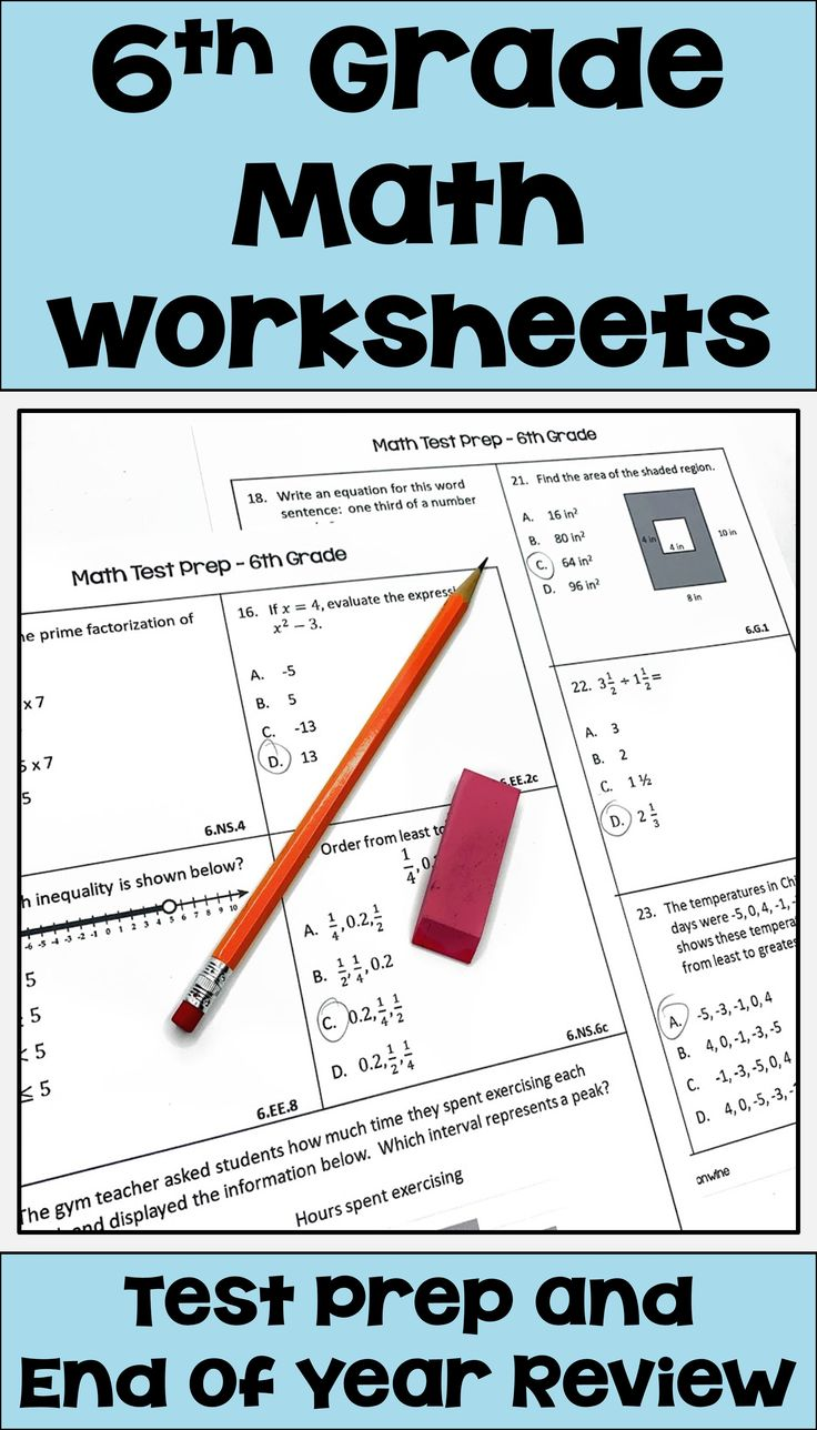 Pin on 6th Grade Math Test Prep & Review