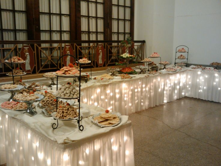 pinterest wedding reception food   This is one example of a wedding cookie table. Cookie tables range in ...