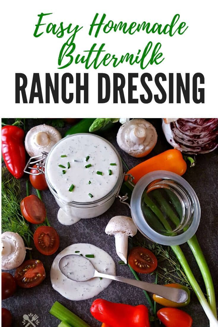 Homemade Buttermilk Ranch Dressing Recipe With Images Homemade Ranch Dressing Buttermilk Homemade Buttermilk Buttermilk Ranch Dressing