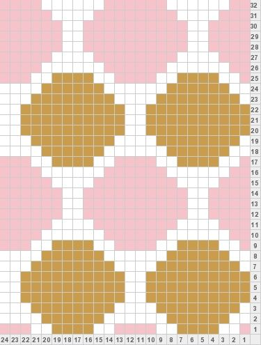polka dot knitting chart -- goes with Lei'la brown and pink cow  boy boots winter time :)