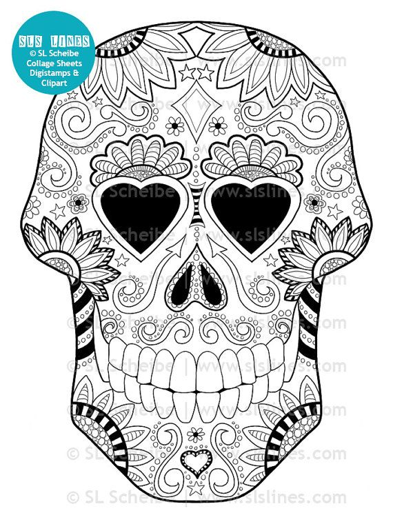 Coloring Pages For Adults Skull : 139 best coloriage mortel images on pinterest