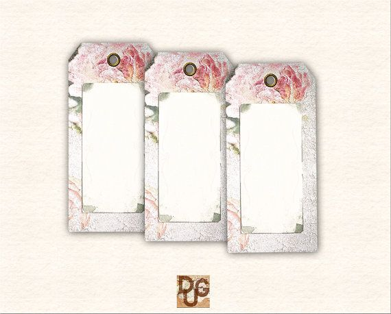 Digital Collage Sheet Gift Tags Printable. by DreamUpGraphic, €2.80