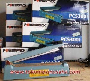 Spesifikasi :      Tipe : PCS 300I     Panjang Seal : 30 cm     Lebar Seal : 2 mm     Power : 400 W     Daya : 220-240 V/50-60 Hz     Dimensi : 44 x 80 x 17 cm     Berat : 4,5 kg