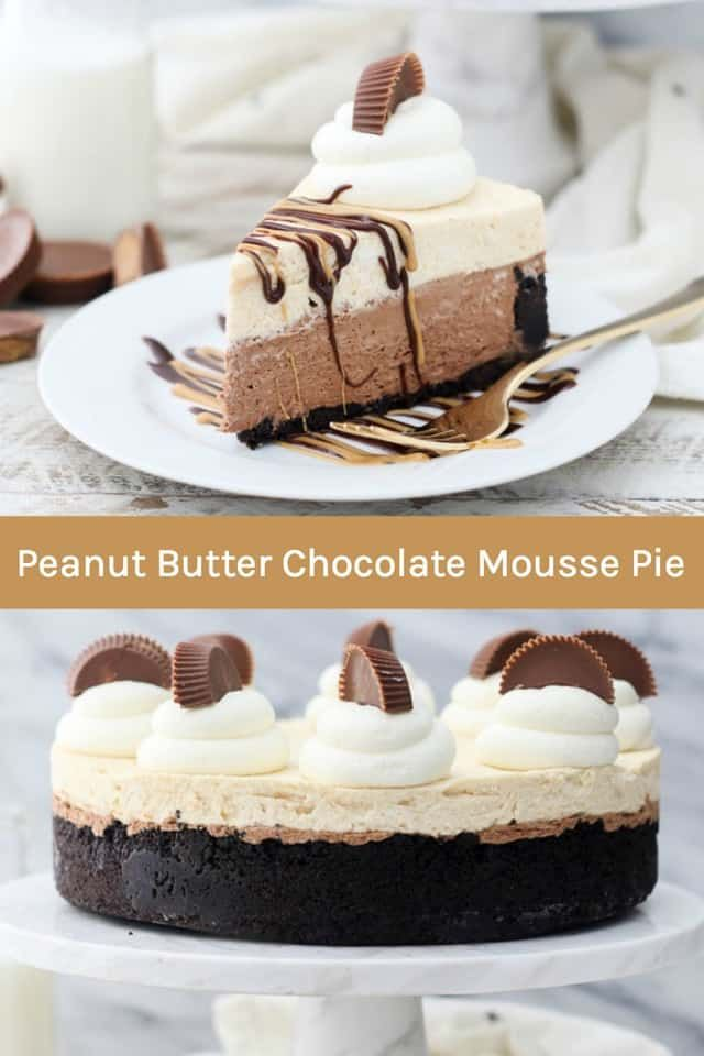 This Peanut Butter Chocolate Mousse Pie Is Absolutely