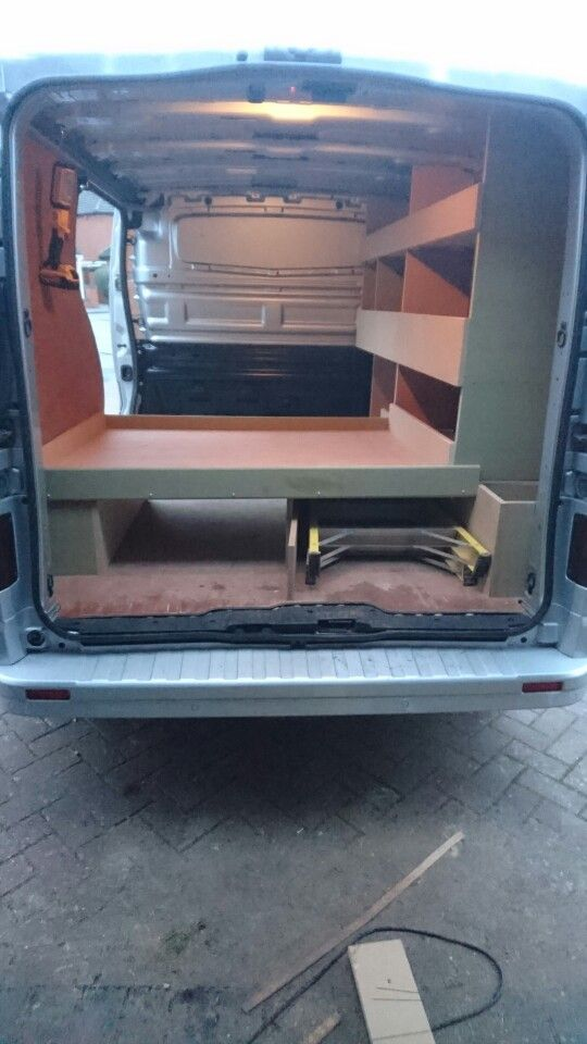 New vivaro van racking