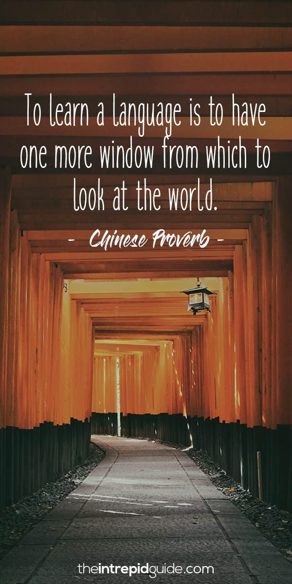 Inspirational quotes for language learners - Chinese Proverb