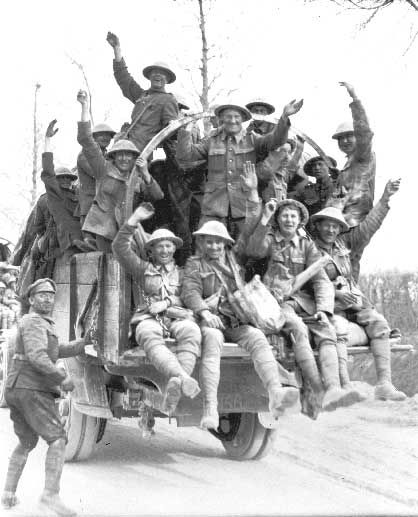 Canadians Returning from Vimy Ridge, 1917.