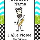 Use this editable Take Home Folder FREEBIE and personalize your students' take home folders. See thumbnail example.    This FREEBIE contains an exa...