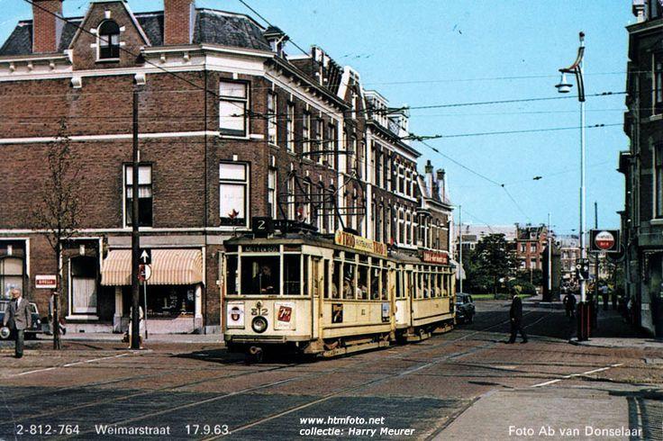 Motorwagen 812 met ahr. 764 in de Weimarstraat