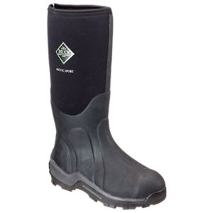 The Original Muck Boot Company Arctic Sport Extreme-Conditions Steel Toe Boots for Men - Black - 13M