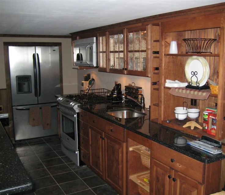 Breathtaking Simple Country Kitchen Cabinet with Black ...
