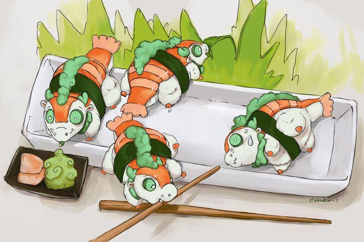 Sushi Dragon Plate