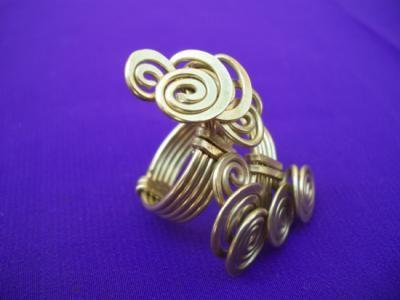 anillo anillo malaquita,ojo de tigre,alpaca filigrana