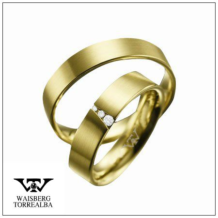 Anillo de matrimonio / Argollas de matrimonio / alianzas de Oro con Diamantes