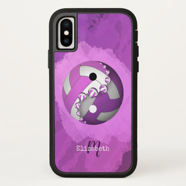 Yin And Yang Volleyball Purple Pink Women S Iphone X Case Yinyang Volleyball Vball Womens Vol In 2020 Speck Iphone Cases Black Iphone Cases Volleyball Iphone Case