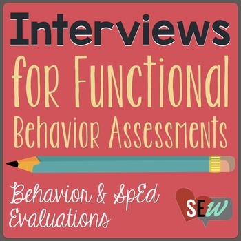 Functional Behavior Assessments are complicated and require a ton of data. It is really important to get the best information from teachers, parents, and students. These three interviews are perfect to collect data about challenging behaviors. As a school psychologist, I also use these interviews for