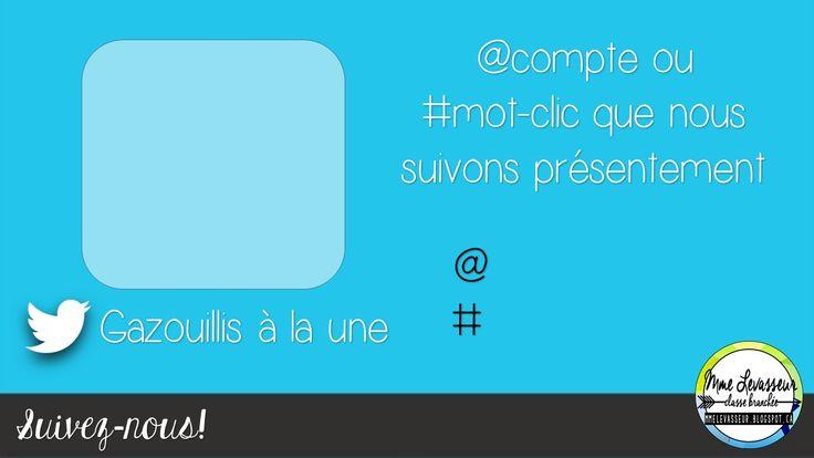 Affichage de classe - Twitter en classe. Version modifiable et pdf. mmelevasseur.blogspot.ca