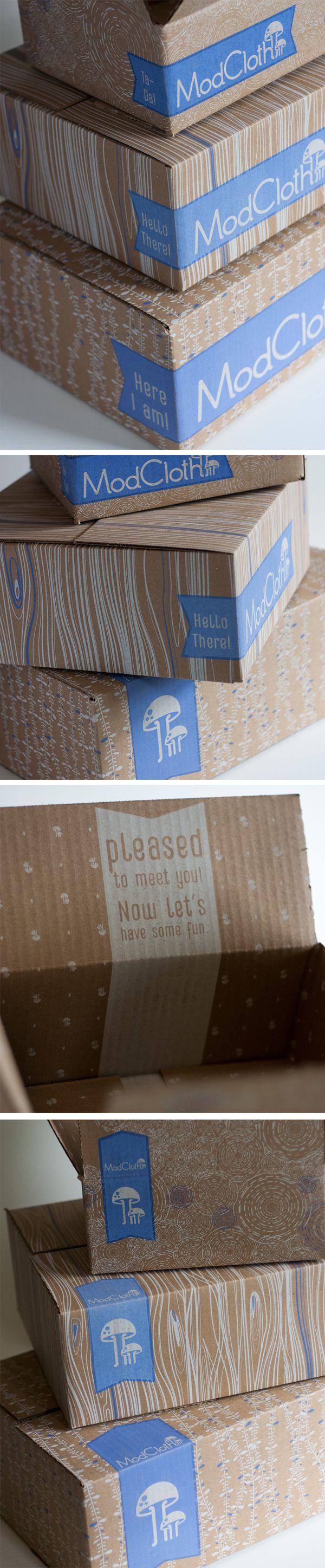 ModCloth 2013 Shipping Boxes by Joseph DeFerrari, via Behance