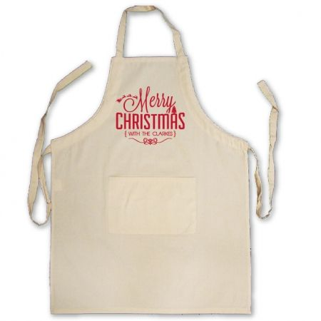 Bold merry Christmas personalised apron CHRISTMAS IN #HTFSTYLE