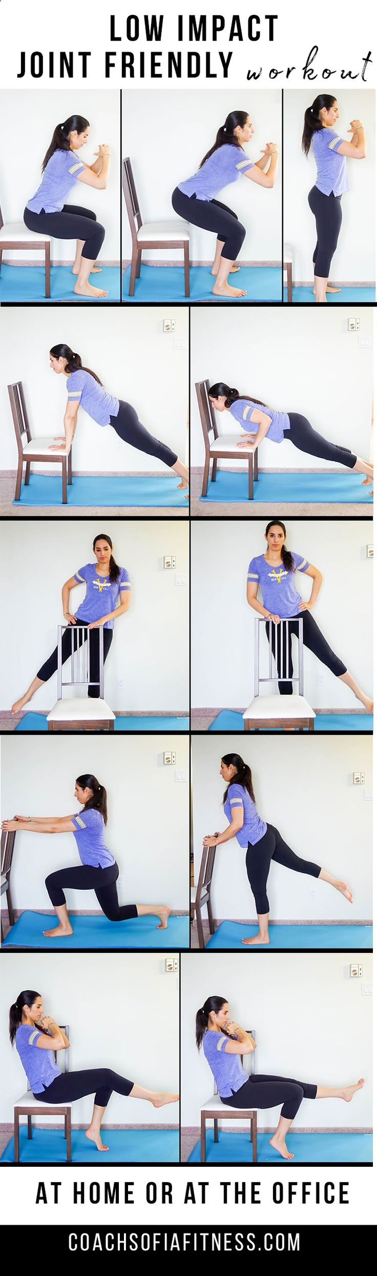 Low Impact Joint Workout you can do when suffering from low back pain or chronic pain | joint friendly | low impact | workout with back pain | short workouts | home workout | office workout