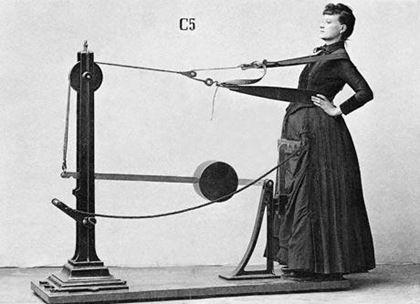 aparatos de fitness Vintage para ella