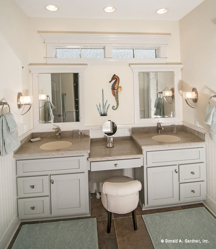 this master bath is designed with dual vanities and a seating space for makeup http www. Black Bedroom Furniture Sets. Home Design Ideas