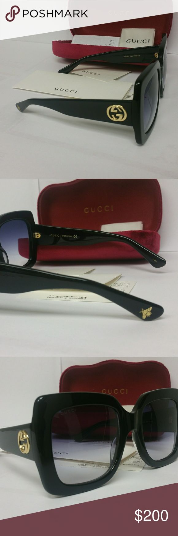 Authentic GUCCI oversized women sunglasses Gucci Women's Sunglasses  model- GG0083S-001 55 Comes with full package 100% Authentic GUCCI large Frame. Ships same day from florida. Gucci Accessories Sunglasses