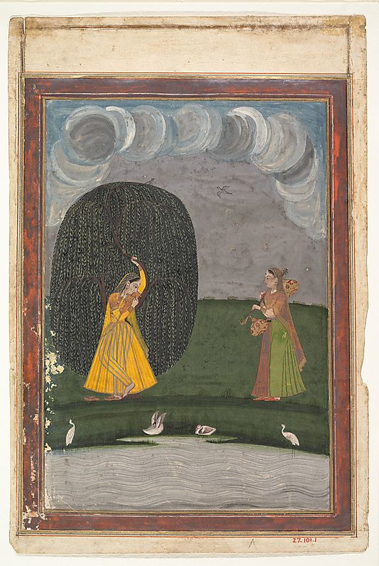 Illustration from a Ragamala Series (Garland of Musical Modes) - late 18th century, India (Punjab Hills), Gouache on paper.