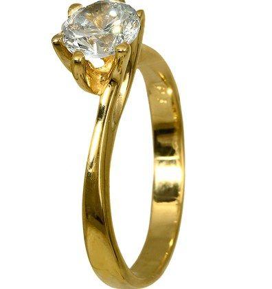 ΜΟΝΟΠΕΤΡΑ 016254 016254 Χρυσός 14 Καράτια μόνο 181.00€ #onsale #style #fashion
